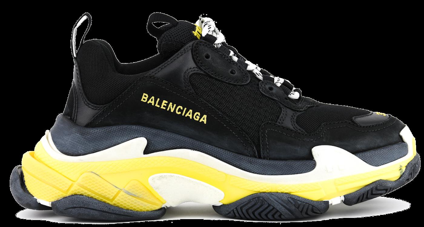 7e168ff13e63 BALENCIAGA TRIPLE S BLACK YELLOW - Paul warmer